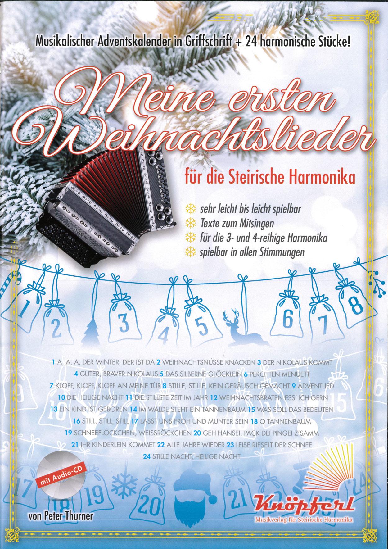 Weihnachtslieder Geschichte.Weihnachtslieder Harmonika Kärntnerland